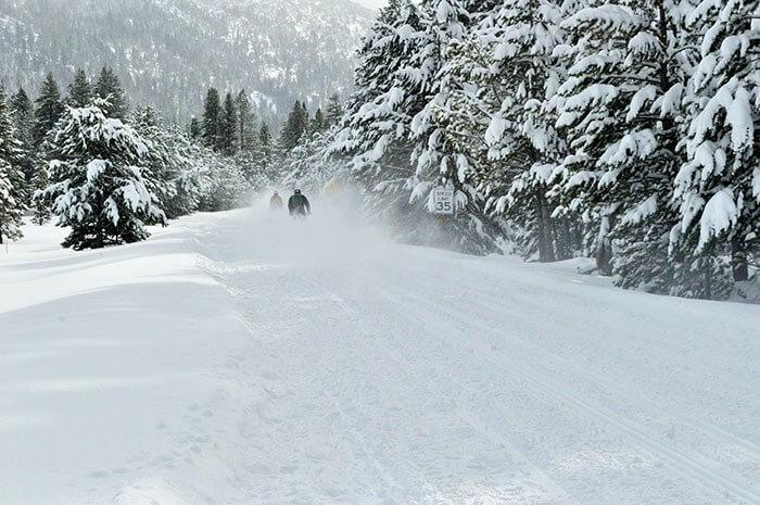 winter getaway lake tahoe snowmobiling