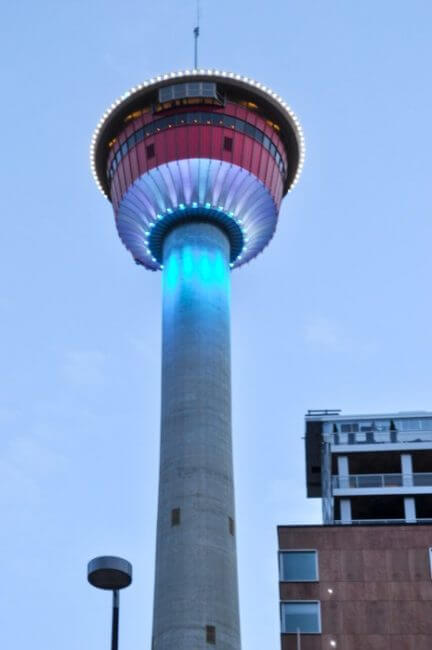 winter vacation calgary tower