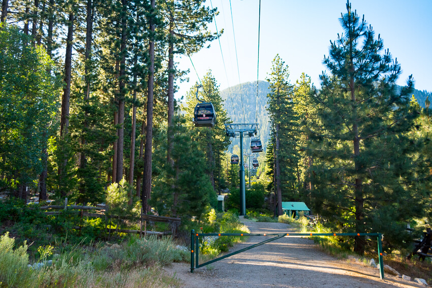summer lake tahoe gondolas