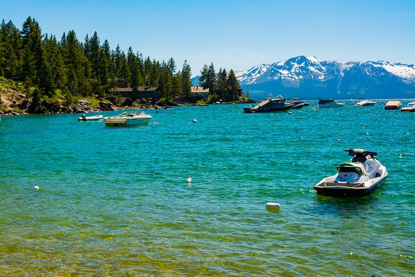 Summer Lake Tahoe Jetski Postcards To Seattle