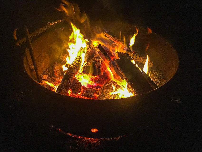 campfire camping for beginners