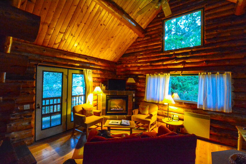 san juan island indoor cabin