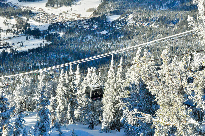 what to pack on a ski trip gondola