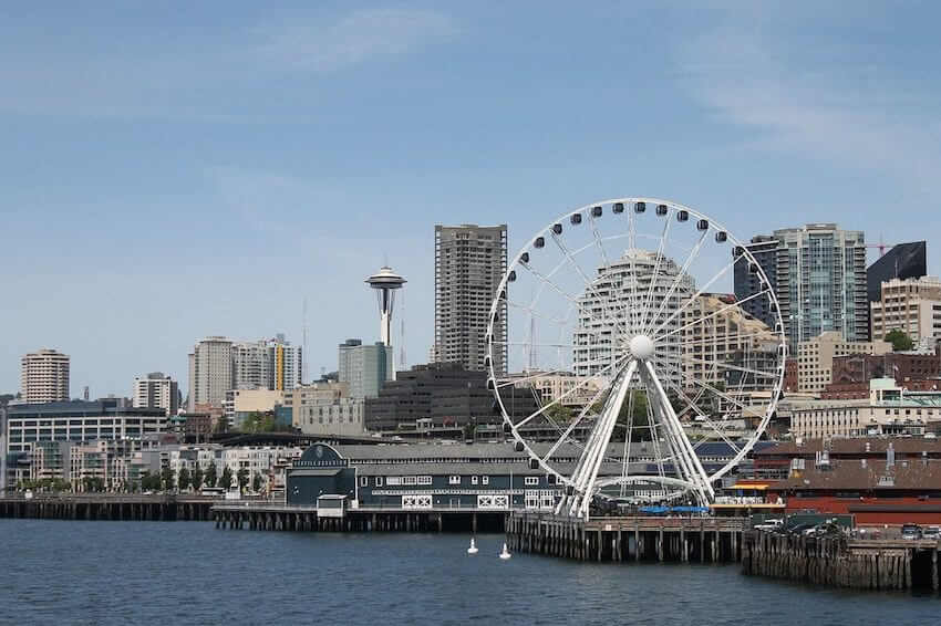 seattle in the spring waterfront