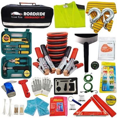 emergency road kit road trip packing list