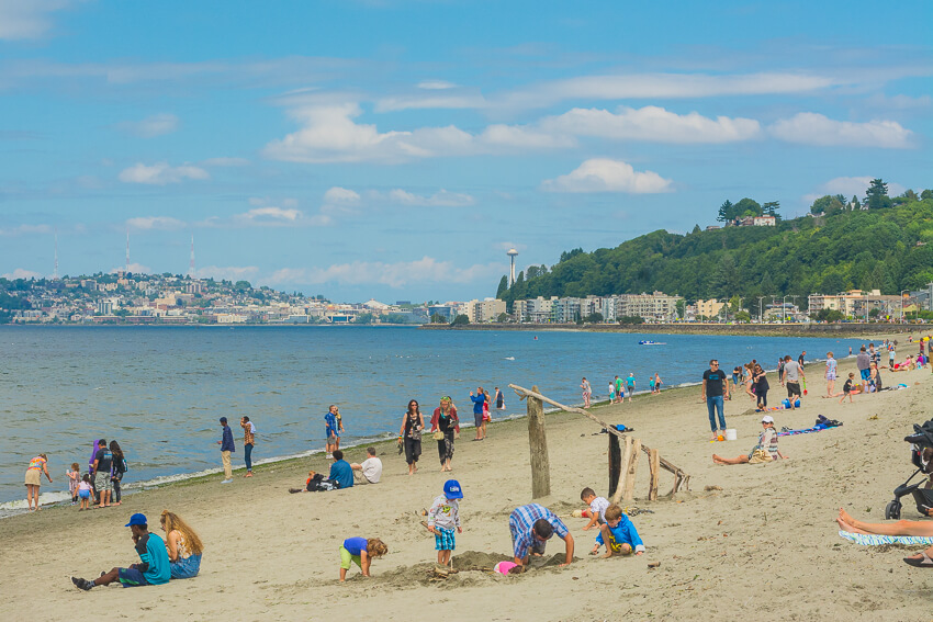 seattle in the summer west seattle