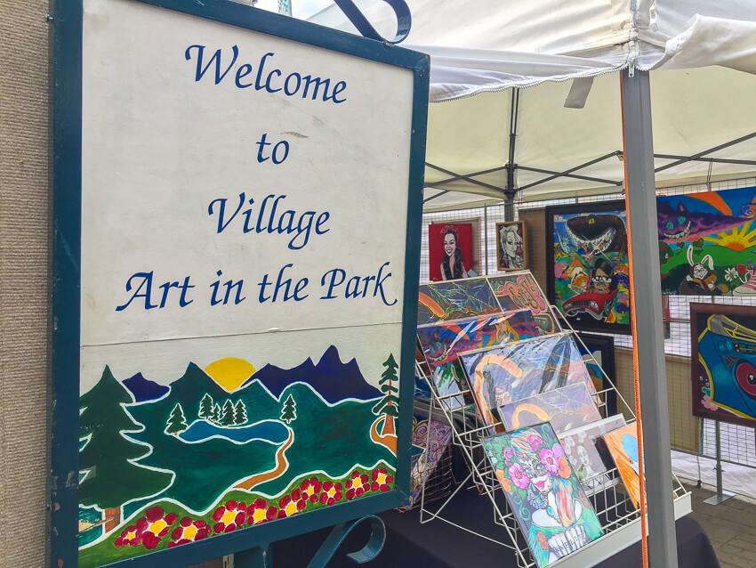 leavenworth village art in the park