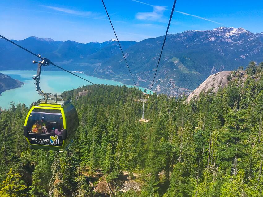 sea to sky gondola summer in whistler