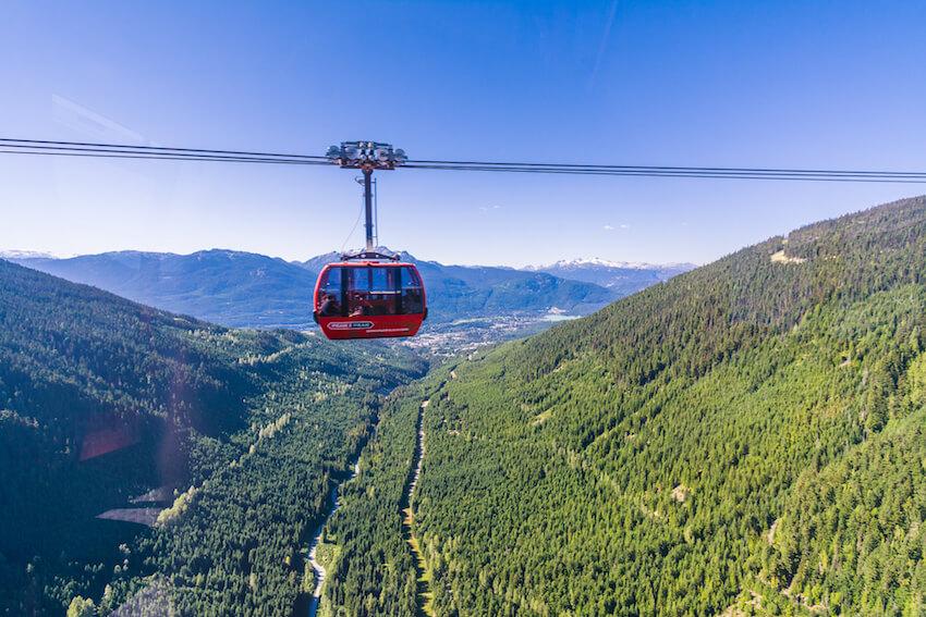 whistler summer activities peak 2 peak