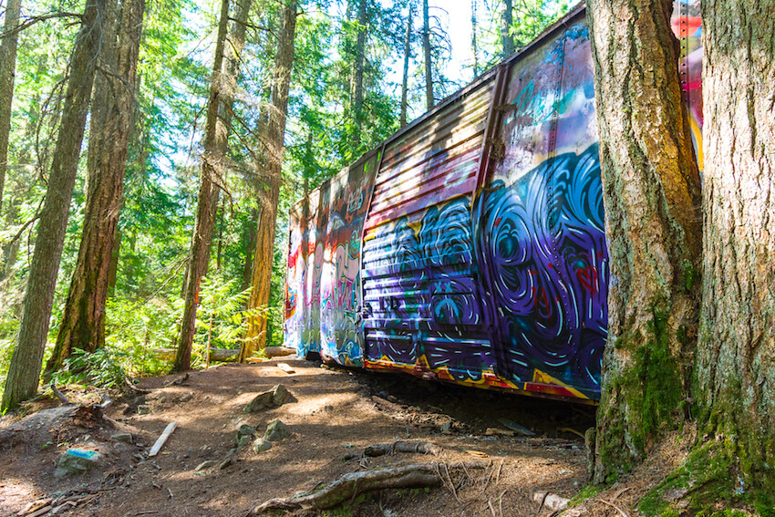 things to do in whistler in the summer train wreck hike