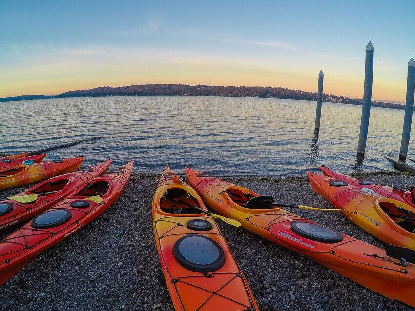 kayaking on lake washington