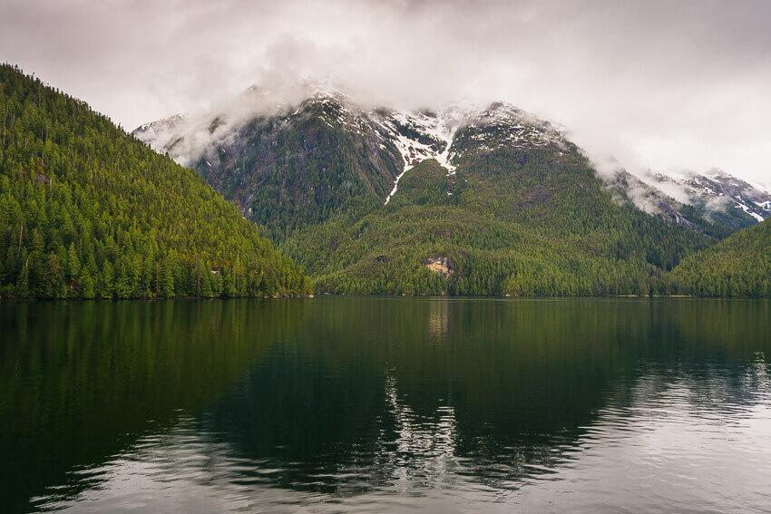 mountains spring in alaska
