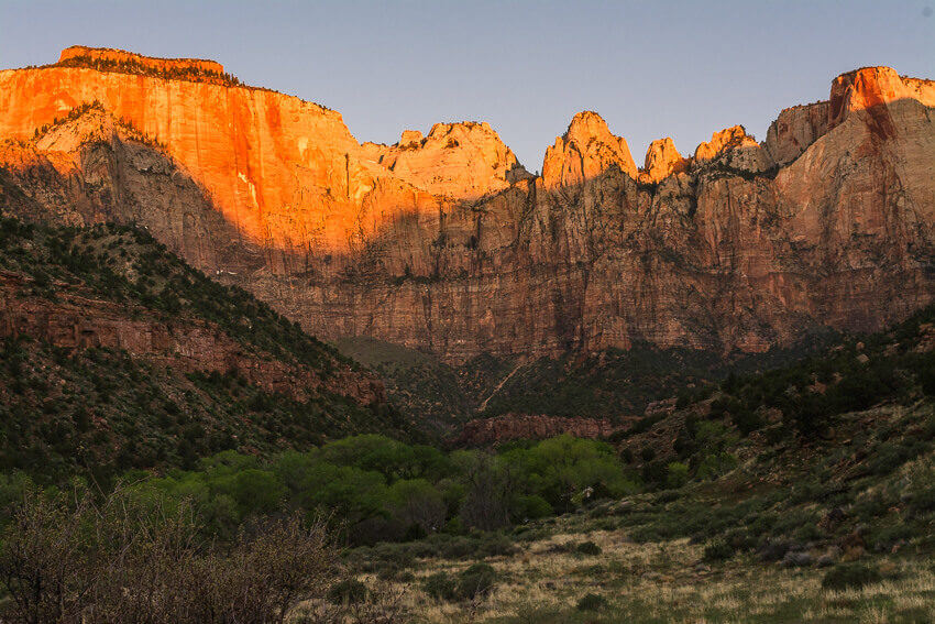 zion national park hikes canyon