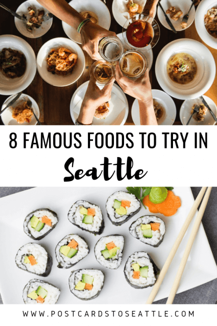 From where to get the best coffee to the top seafood restaurants, this guide will tell you where to find some of the most famous food in Seattle. #coffeeshops #seattlecoffee #seattlefood #culinary #seafood