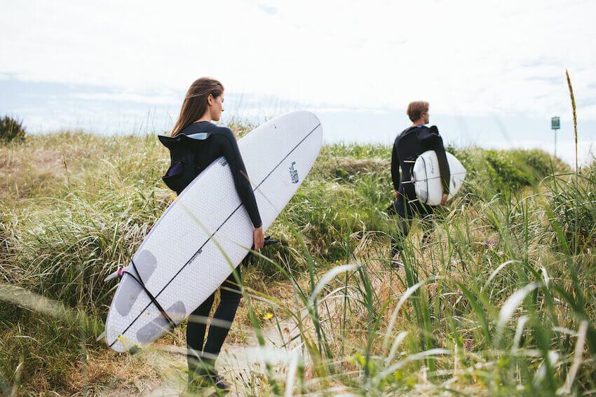 washington surfing ocean
