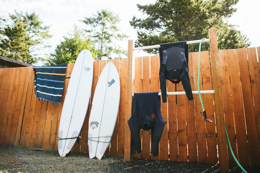 surfing in washington wet suit