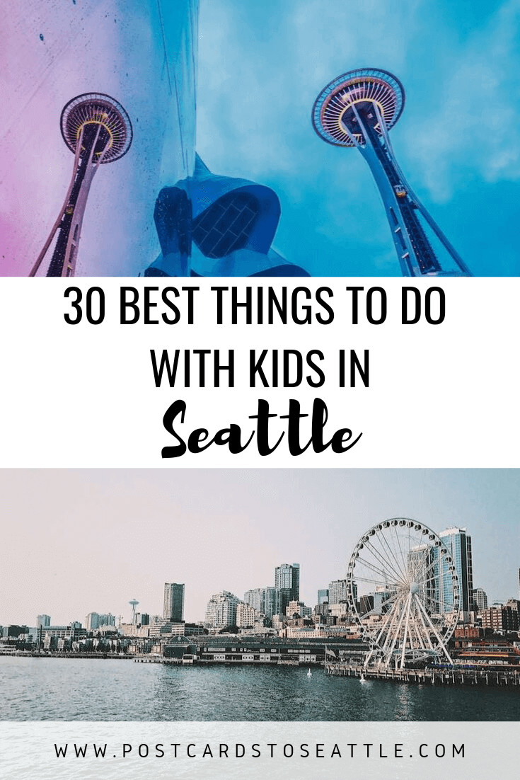 Looking for activities with kids in Seattle? Check out this list of the 30 best things to do in Seattle with kids to get a few ideas. #seattle #travelingwithkids #childrenactivities #spaceneedle #mopop