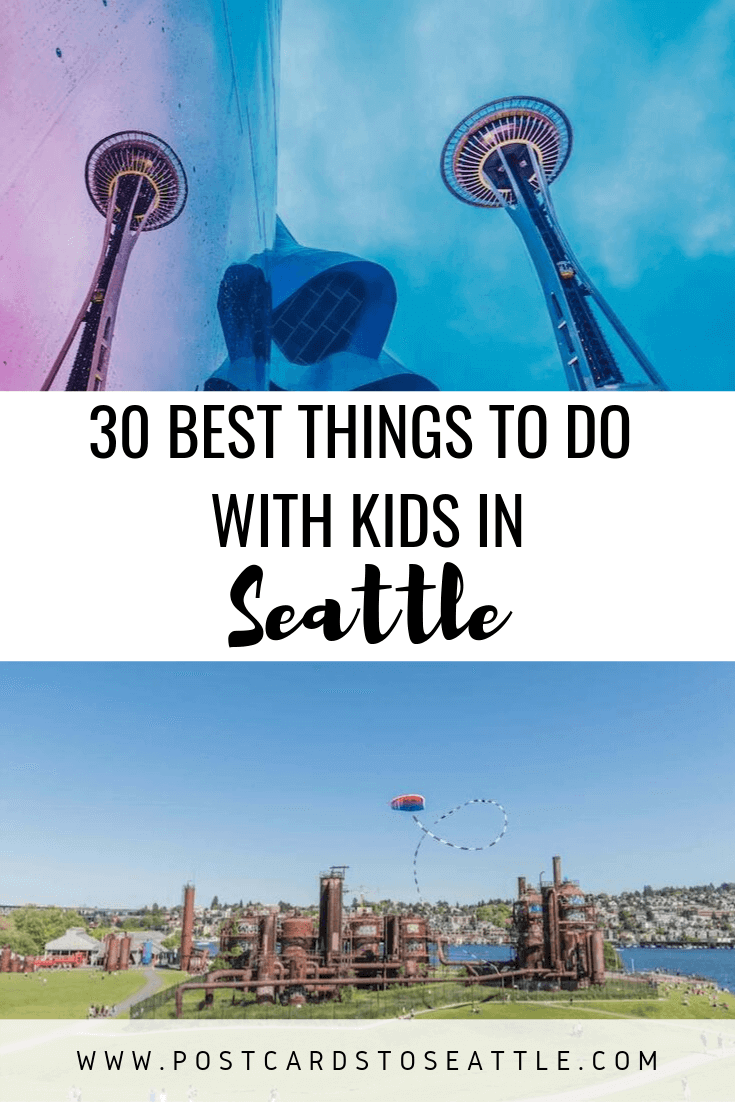 Need to burn off your kids' energy? Check out this list of things to do with kids in Seattle. #kids #seattle #seattlevacation #children