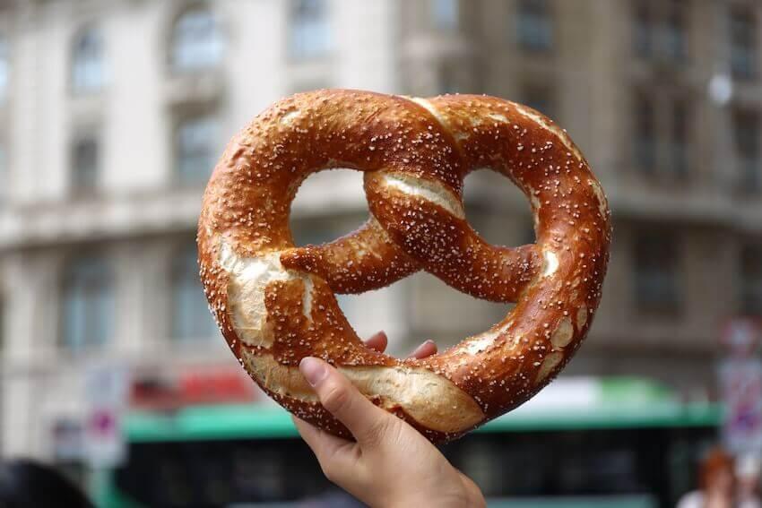 oktoberfest in washington pretzel