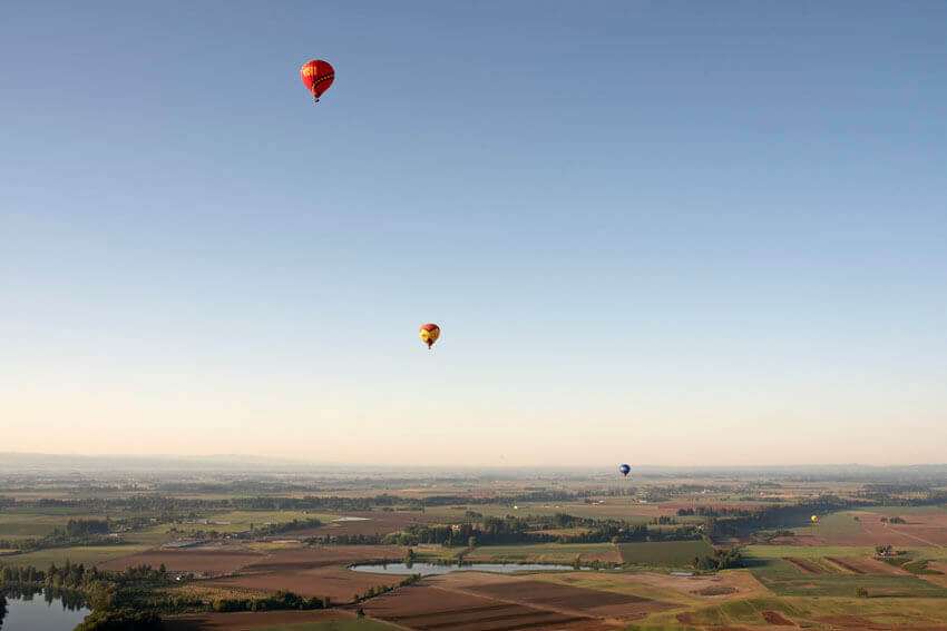 willamette valley hot air balloon