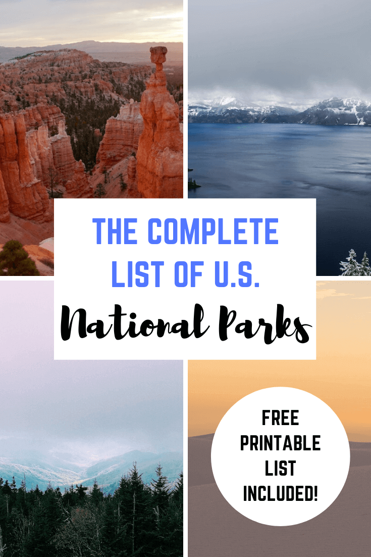 The Complete List of US National Parks By State (2021 Update)