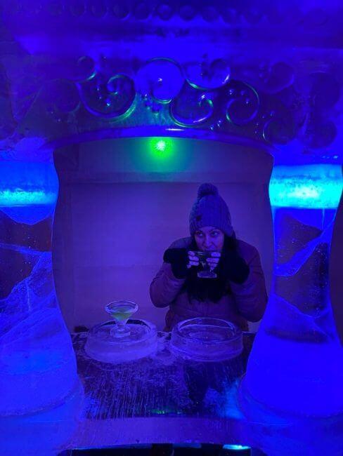 aurora ice museum bar