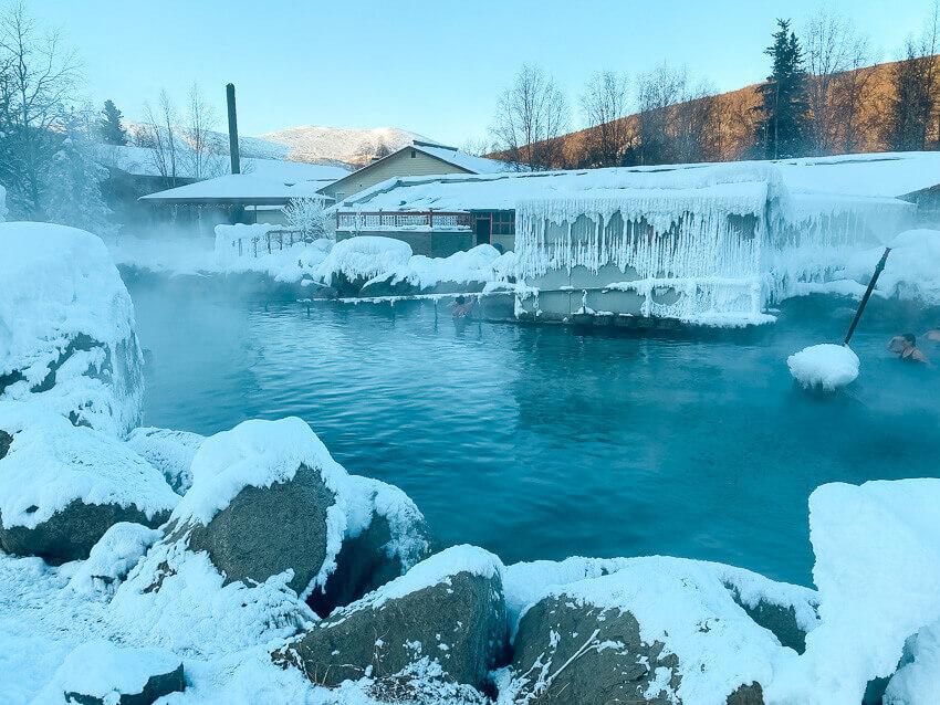 chena hot springs fairbanks winter