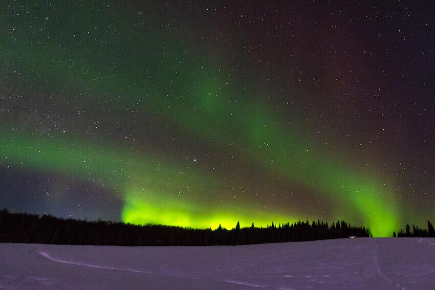 northern lights fairbanks in winter
