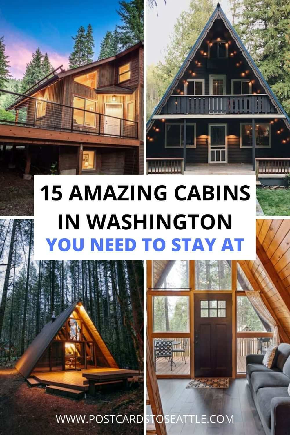 16 Stunning Treehouses and Cabins in Washington You Need to Book