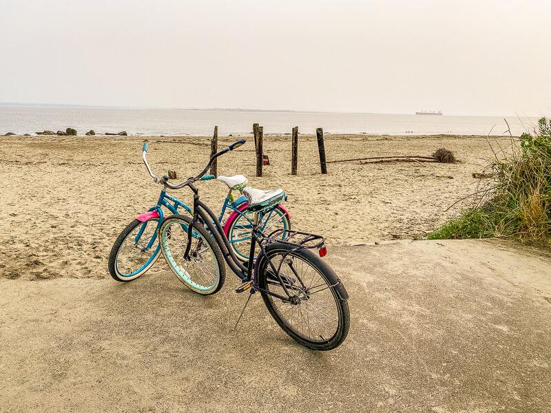 riding bikes ocean shores