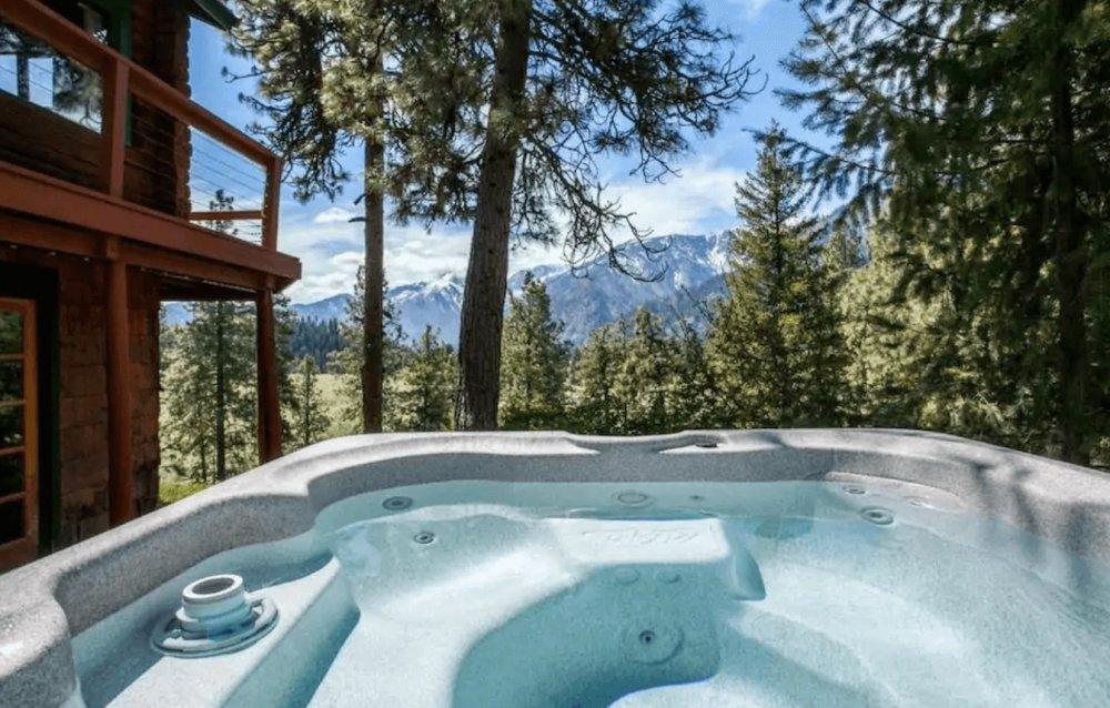 peaceful cabin leavenworth