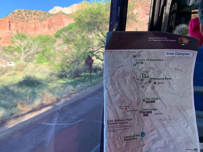 zion shuttle map