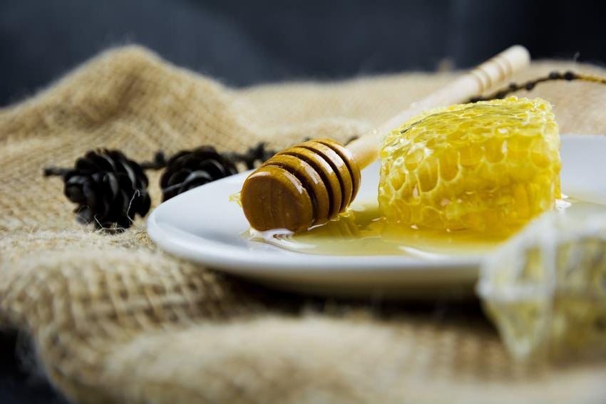 Golden Honey On Plate