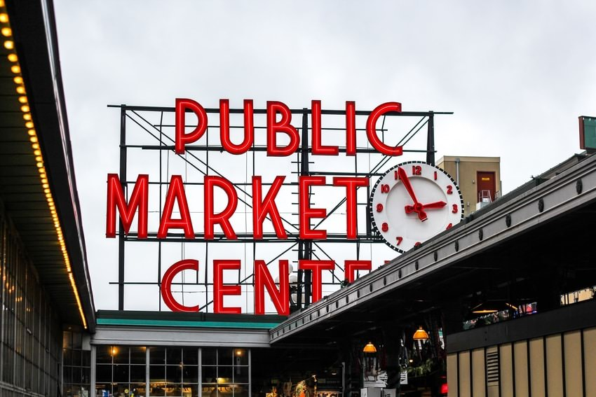 Pikes Place Market Sign