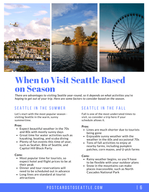 when to visit seattle
