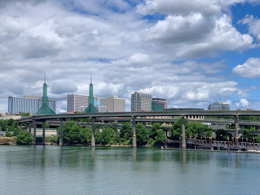 Portland City And Bridge