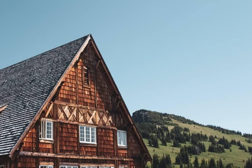 Wooden House On Mount Rainier
